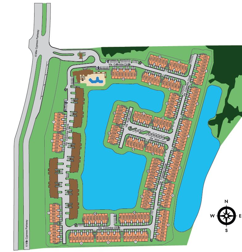 Marbella on Cypress Site Map