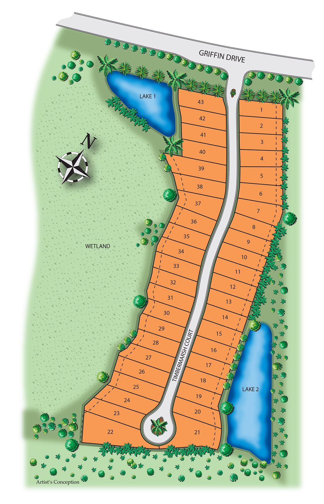TIMBERWOOD PRESERVE Site Map