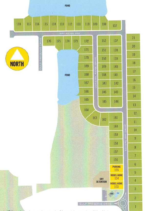 Site plan for Coves of Estero Bay - Fort Myers, FL
