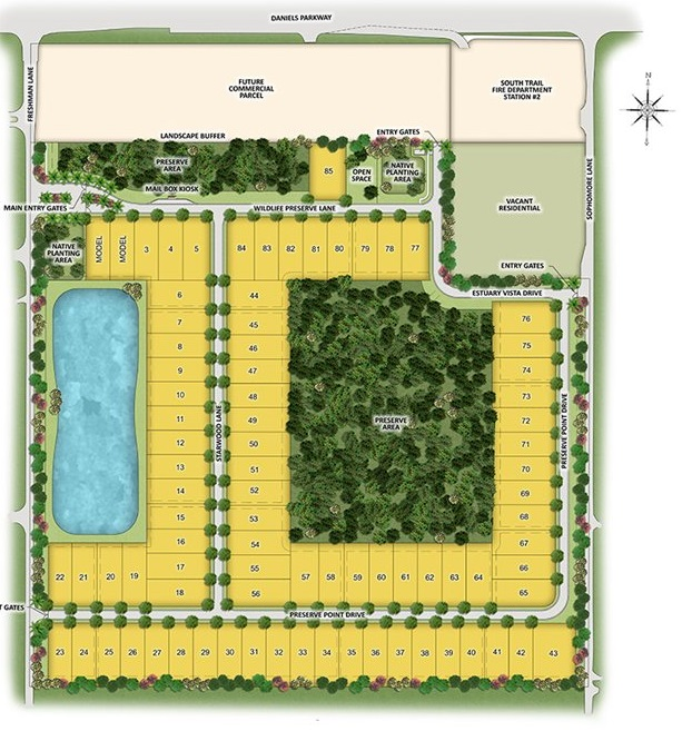 Site plan for Daniels Place - Fort Myers, FL