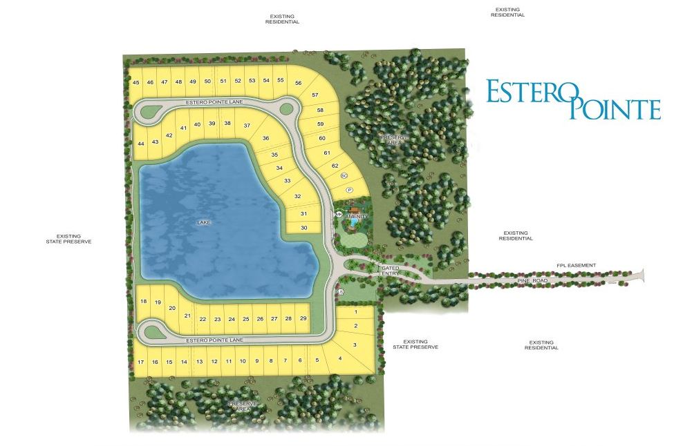 Estero Pointe Site Map
