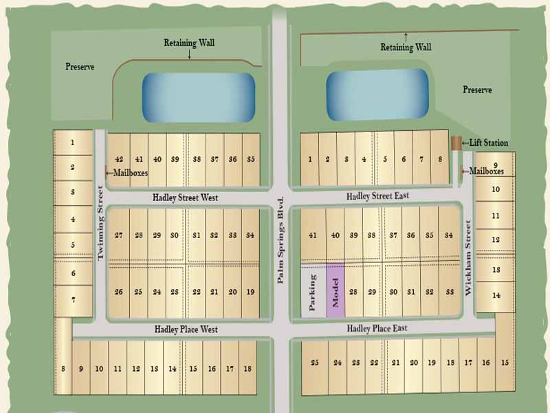 Hadley Place Site Map