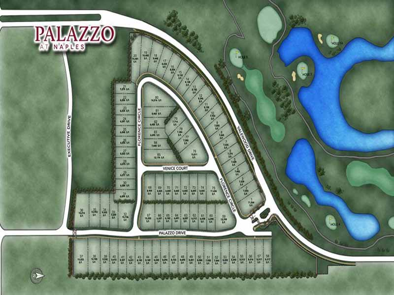 Site plan for Palazzo at Naples - Naples, FL