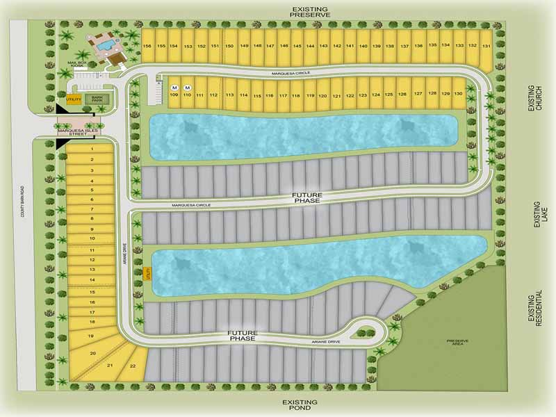 Site plan for Marquesa Isles - Naples, FL