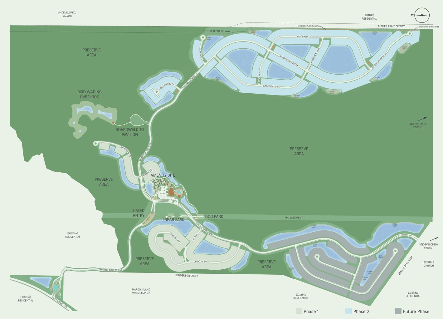 Site plan for Winding Cypress - Naples, FL
