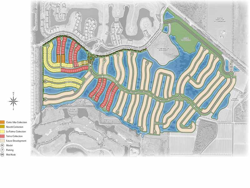 Site plan for Oyster Harbor at Fiddlers Creek - Naples, FL