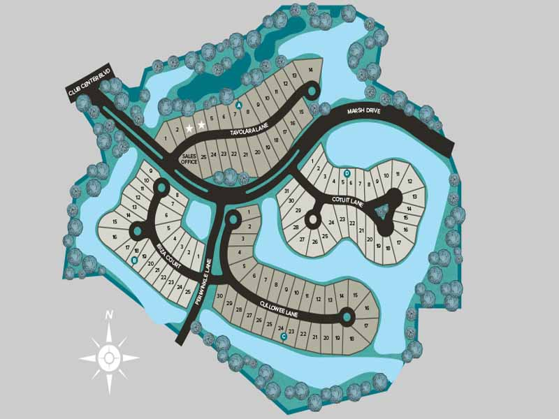 Marsh Cove at Fiddler's Creek Site Map