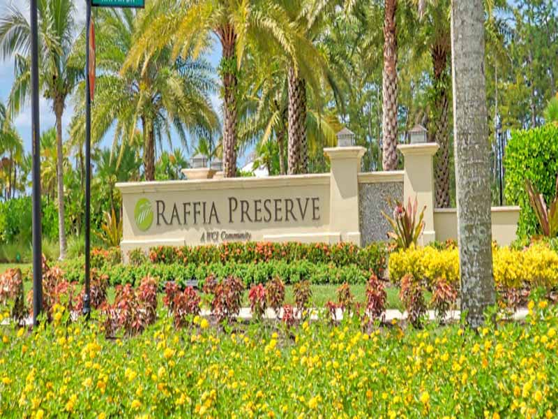 New Community of Raffia Preserve