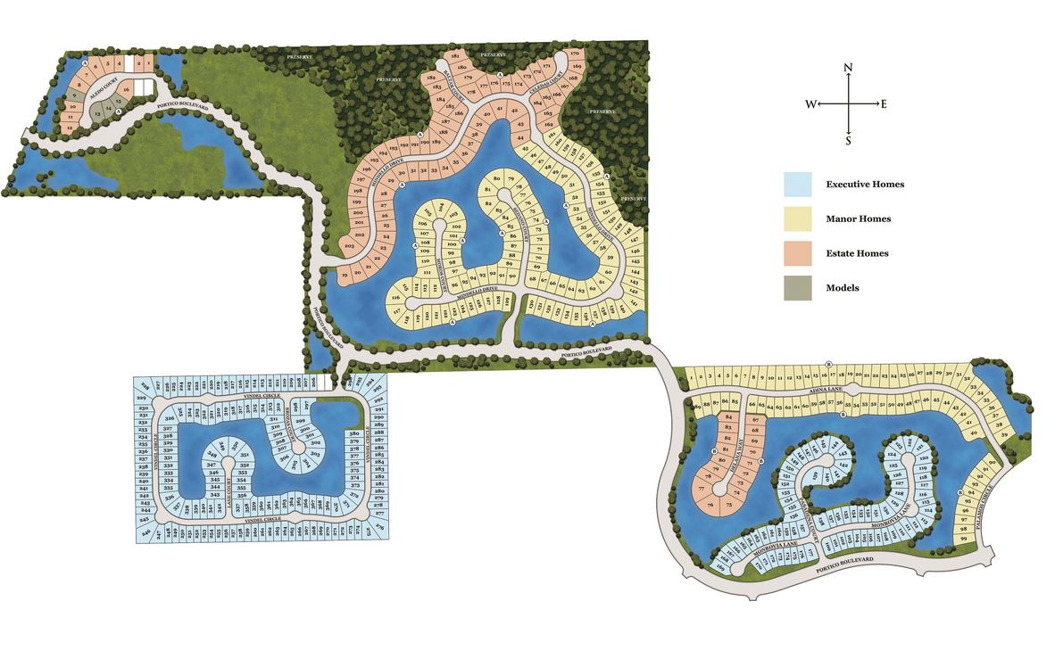 Site plan for Portico - Fort Myers, FL