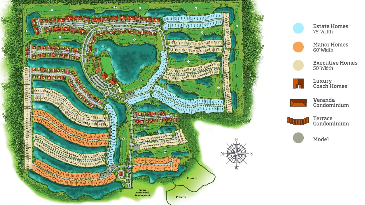 Site plan for Bonita National Golf and Country Club -  Bonita Springs, FL